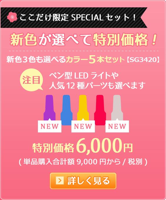 新色3色も選べるカラー5本セット【SG3420】